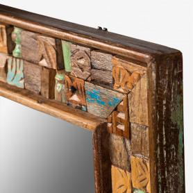 Зеркало в деревянной раме лофт САРИКА
