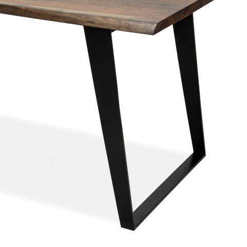 Стол лофт из массива обеденный,  ДЖИВАН sigar black, 1.5 метра