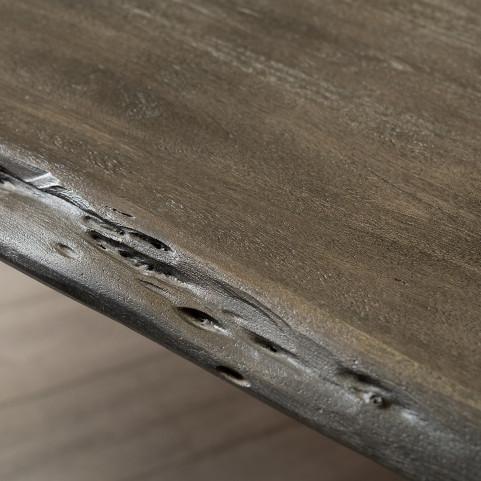 Стол лофт из массива, LIFE platinum black, 2 метра