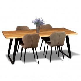 Стол лофт из массива, LIFE black, 2 метра